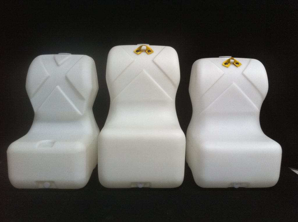 three Bart crash test dummy molds